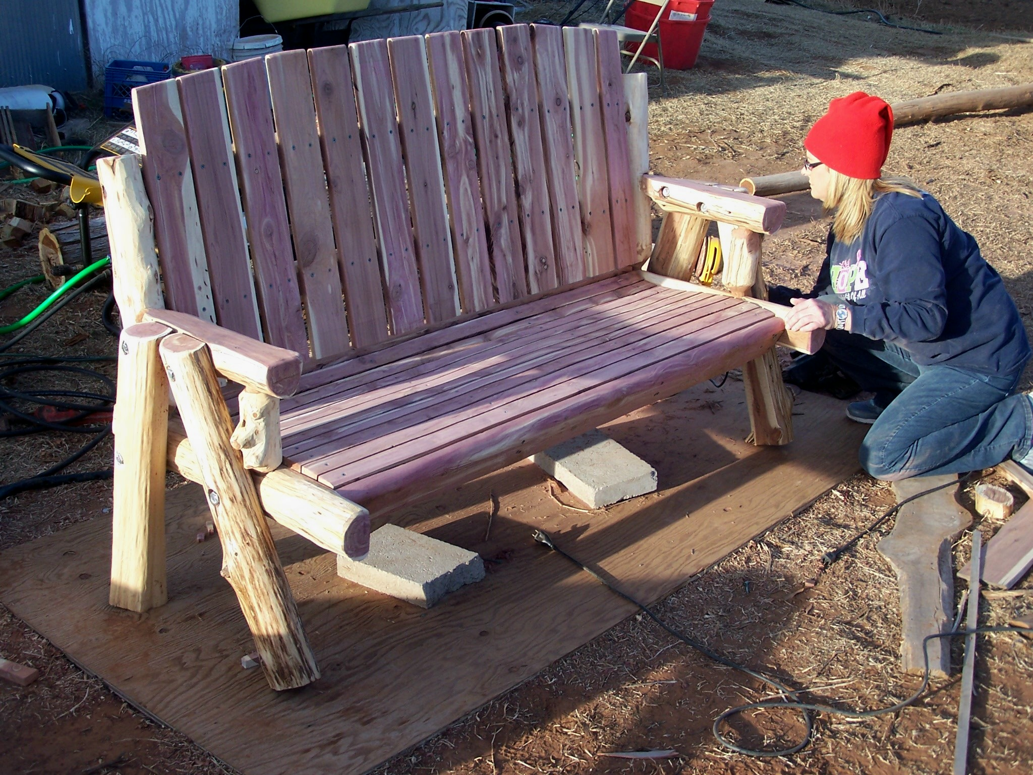 Cedar Log Benches Wild West Creations