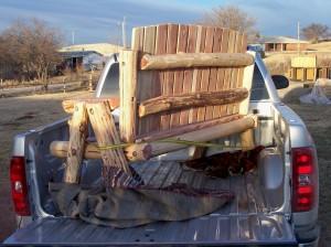 Cedar Log Benches