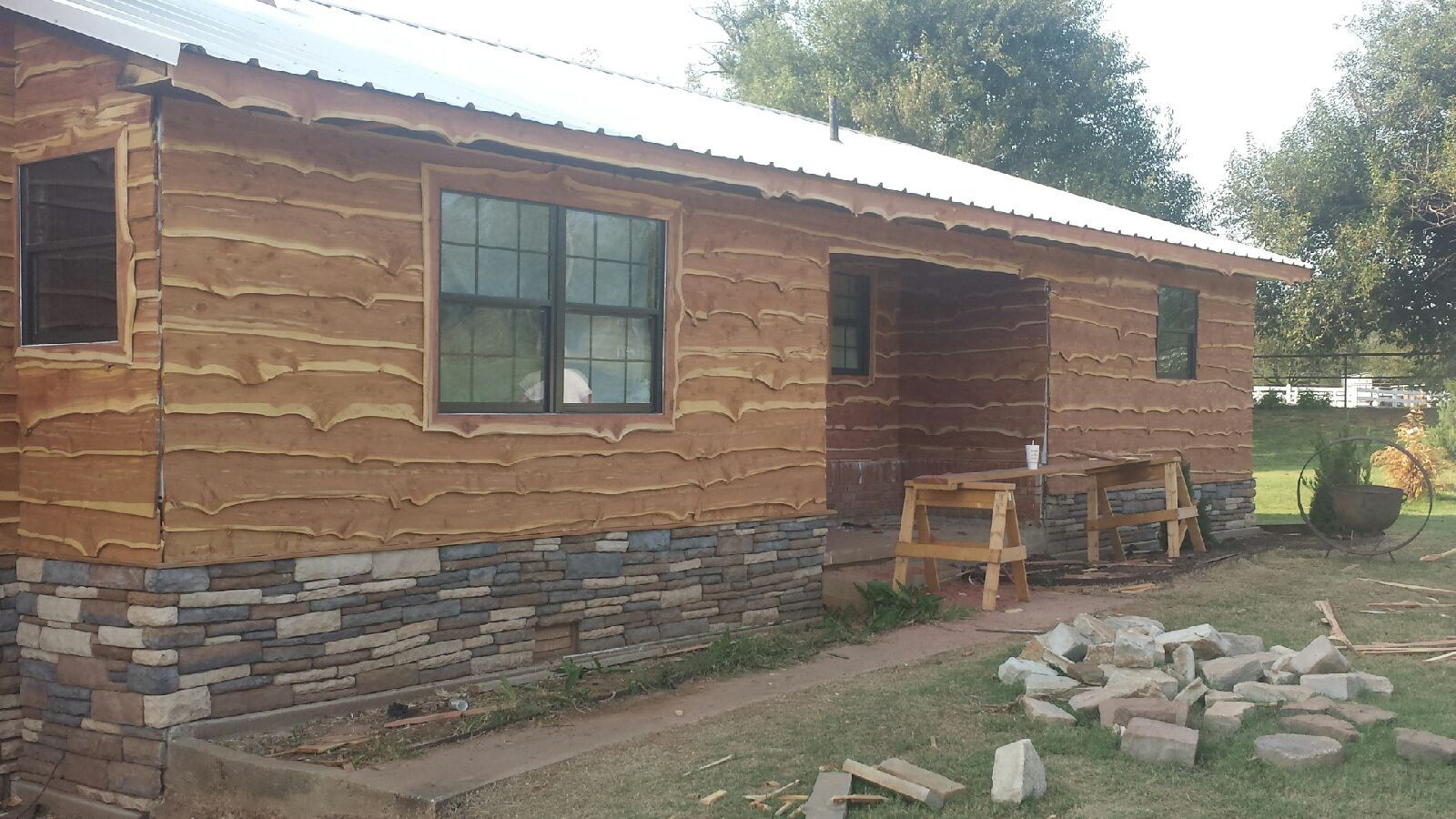 Live edge cedar siding give us a call or text 405 638 for Log slab siding