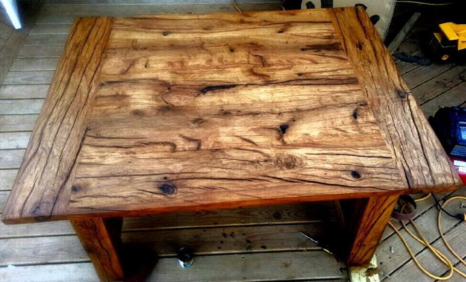 Posts slabs and beams wild west creations for Log slab siding