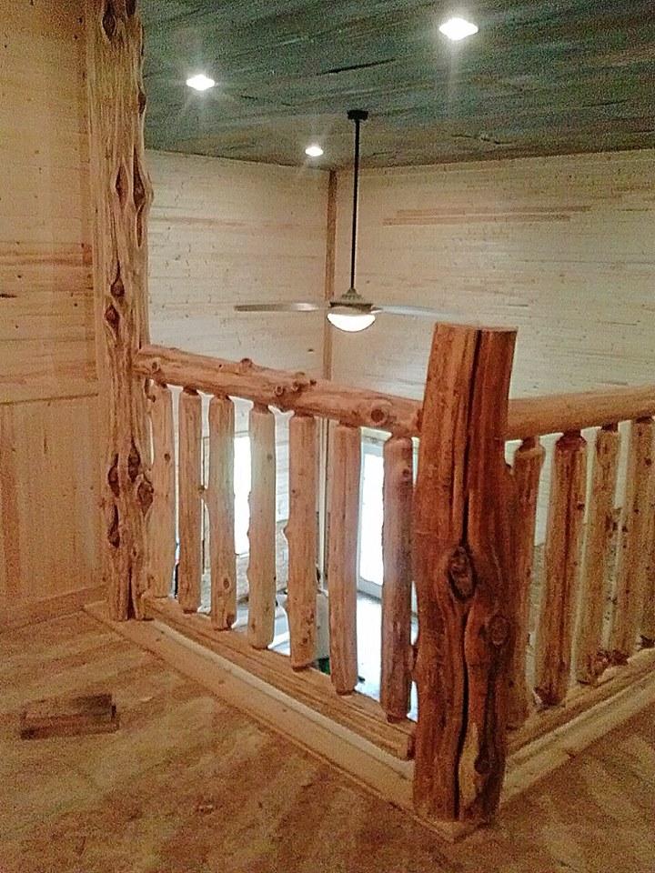 Log Railing Branch Railing Wild West Creations